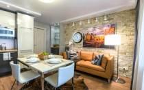 Кухня гостиная 35 кв м дизайн фото
