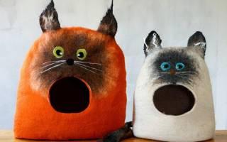 Домик для кошки фото своими руками