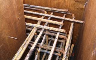 Армирование столбчатого фундамента под стальную колонну