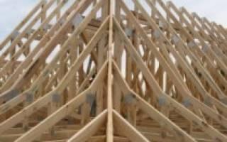 Четырехскатная крыша стропильная система
