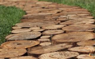 Дорожки из спилов дерева своими руками