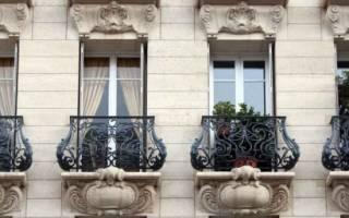 Что такое французский балкон фото?