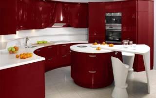 Кухня в красно белом цвете фото