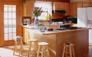 Кухни из дерева в современном стиле фото