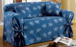 Накидка на диван своими руками фото