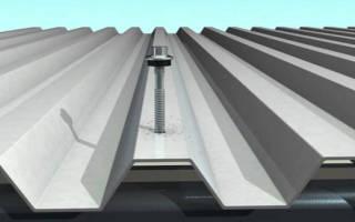 Как правильно прикручивать профнастил на крышу