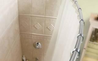 Карниз для ванной угловой г образный