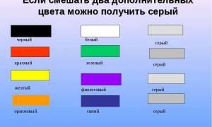 Какие цвета смешать чтобы получить серый