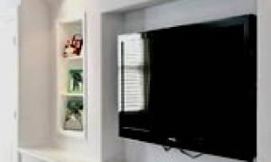 Ниши из гипсокартона под телевизор фото
