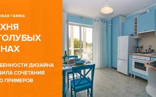 Кухня в голубом цвете дизайн фото