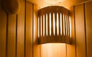 Светильники для парной в баню