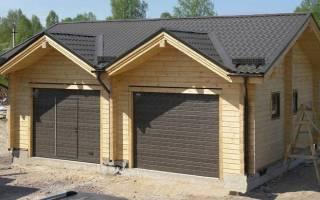Как построить гараж из бруса?