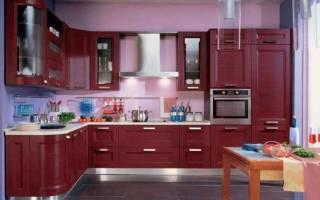 Кухни бордового цвета с другими цветами фото