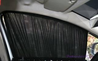 Шторки на автомобильные стекла своими руками