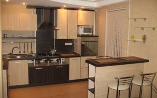 Кухня гостиная с барной стойкой фото