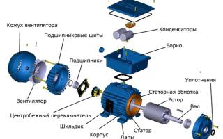 Схема включения однофазного двигателя с конденсатором