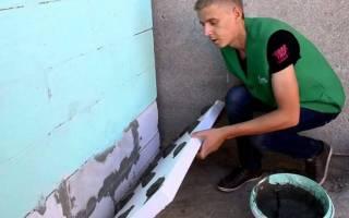Как закрепить пенопласт к стене