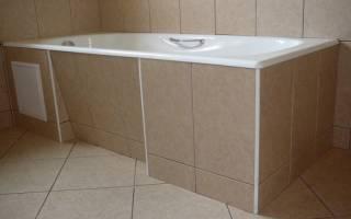 Установка ванны до или после укладки плитки?