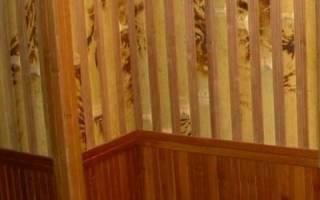 Бамбуковые обои в интерьере прихожей фото