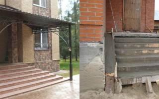 Фундамент под крыльцо к дому