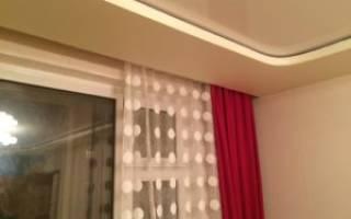 Потолочная гардина на натяжной потолок фото