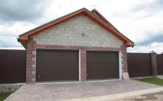 Размер гаража на 2 машины