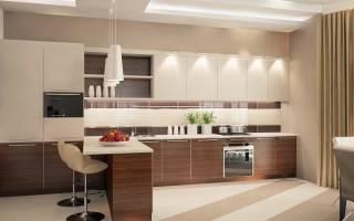 Бежевая кухня с яркими акцентами фото