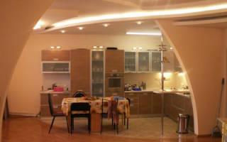 Кухня с аркой в гостиную фото