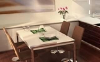 Как выделить обеденную зону на кухне?