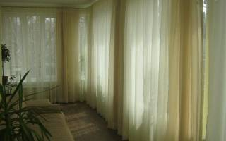 Как повесить шторы на кольца?