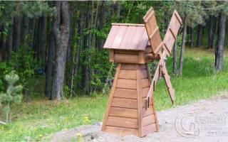 Мельница из дерева своими руками фото