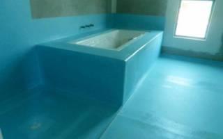 Гидроизоляция для ванной комнаты под плитку
