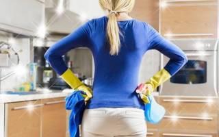 Как отмыть жир с кухонной мебели?