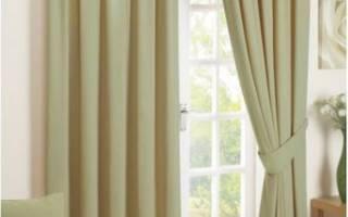 Оливковые шторы в интерьере фото