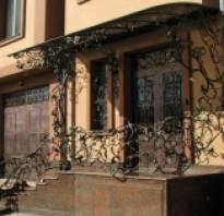 Кованое крыльцо в частном доме фото