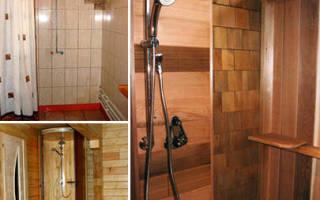 Помывочная в бане с душем