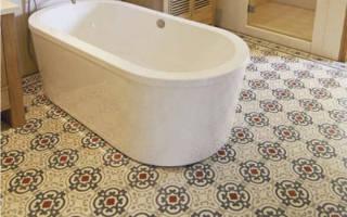 Линолеум для ванной в деревянном доме
