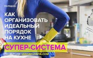 Как навести порядок на кухне?