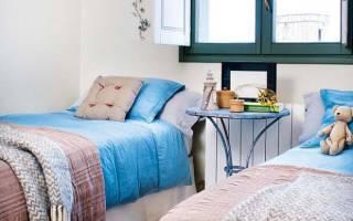 Дизайн спальни с двумя кроватями фото