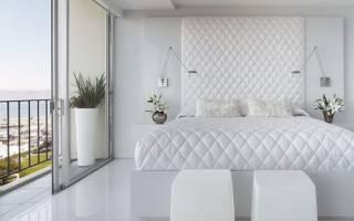 Спальня с белой мебелью дизайн фото