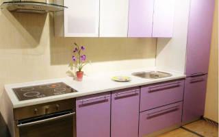 Кухня сиреневого цвета фото