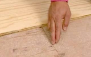 Выравнивание бетонного пола фанерой без лаг