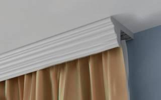 Карнизы потолочные фото со шторами