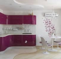 Дизайн кухни в сиреневом цвете фото
