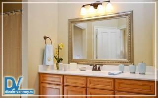Большое зеркало в ванной комнате фото