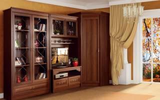 Угловой шкаф в зал фото дизайн идеи