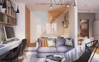 Перегородки из гипсокартона в однокомнатной квартире фото