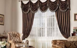 Интерьер штор в гостиной фото