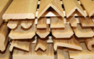 Деревянные уголки для отделки стен