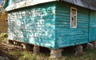 Как заменить фундамент под деревянным домом?